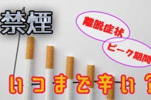 ニコチン離脱症状 ピーク期間