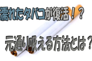 濡れたタバコ 復活