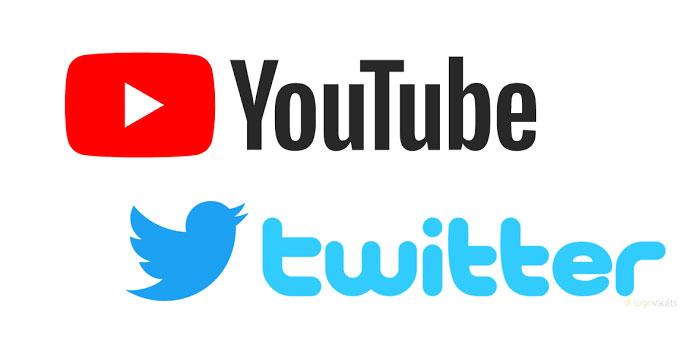 youtubeとツイッターのロゴ