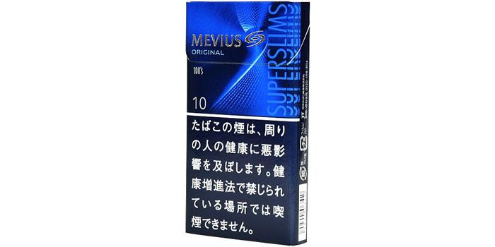 ニコチン・タールが高いタバコ銘柄第24位:メビウス100,sスリムボックス