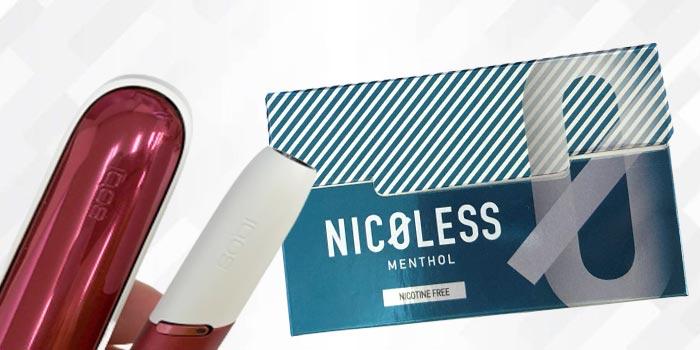 NICOLESS(ニコレス)をアイコスで吸った感想レビュー:メンソール
