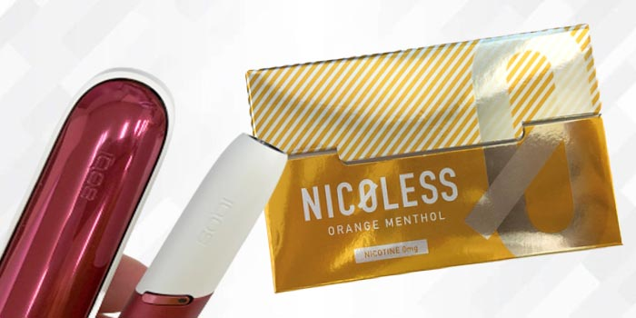 NICOLESS(ニコレス)をアイコスで吸った感想レビュー:オレンジメンソール