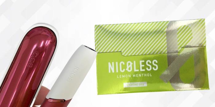NICOLESS(ニコレス)をアイコスで吸った感想レビュー:レモンメンソール