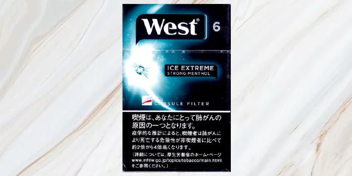 紙巻きタバコ「ウエスト」の廃盤銘柄の値段⑦:ウエスト アイスエクストリーム 6