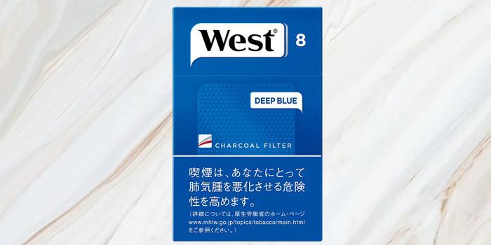 紙巻きタバコ「ウエスト」の値段②:ウエスト ディープブルー 100