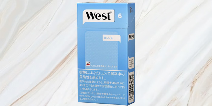 紙巻きタバコ「ウエスト」の値段④:ウエスト ブルー 100