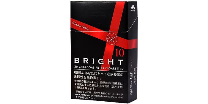 現在販売中の紙巻きタバコ「ブライト」の味・値段をご紹介:ブライト 10