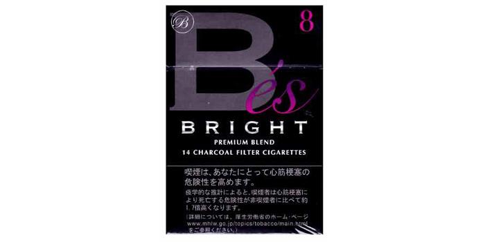 現在販売中の紙巻きタバコ「ブライト」の味・値段をご紹介:ブライトエス8