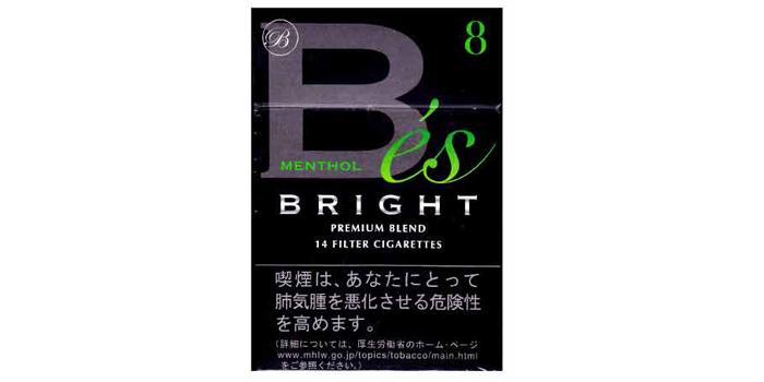 現在販売中の紙巻きタバコ「ブライト」の味・値段をご紹介:ブライトエスメンソール8