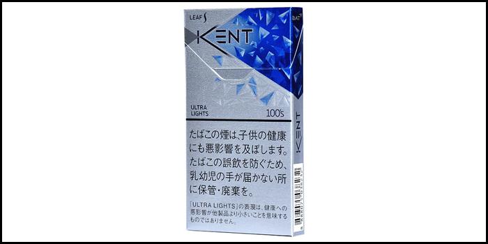 長いロングサイズタバコ銘柄:ケントリーフエスウルトラライトメンソール100'sボックス