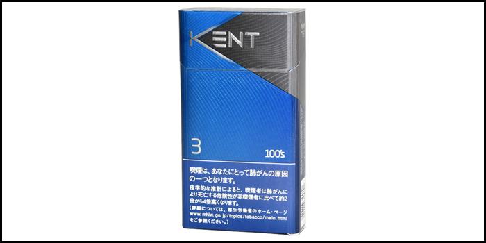 長いロングサイズタバコ銘柄:ケント3 100'sボックス