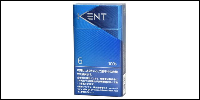 長いロングサイズタバコ銘柄:ケント6 100'sボックス