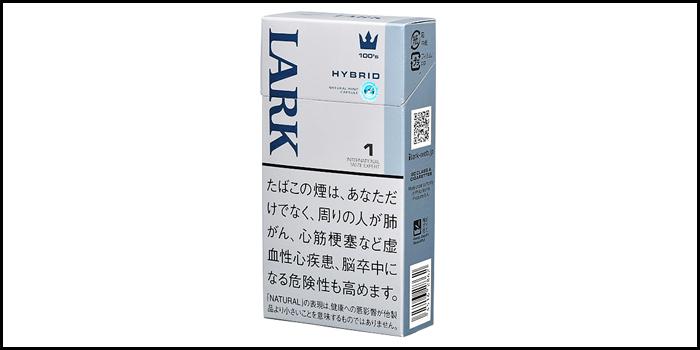 長いロングサイズタバコ銘柄:ラークハイブリッドワン100'sボックス