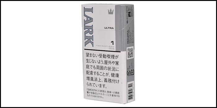長いロングサイズタバコ銘柄:ラークウルトラ1mg 100'sボックス