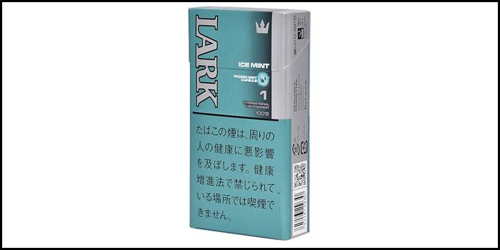 長いロングサイズタバコ銘柄:ラークアイスミント1mg 100'sボックス