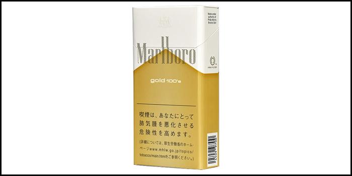 長いロングサイズタバコ銘柄:マールボロゴールド100sボックス