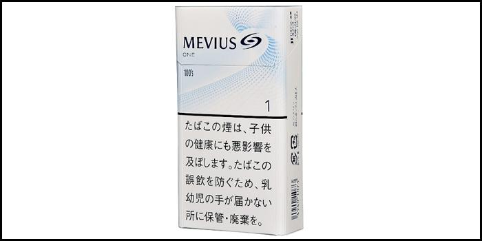 長いロングサイズタバコ銘柄:メビウスワン100'sボックス