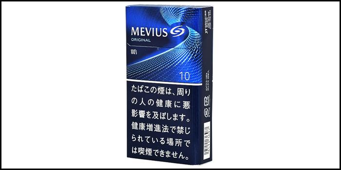 長いロングサイズタバコ銘柄:メビウス100'sボックス