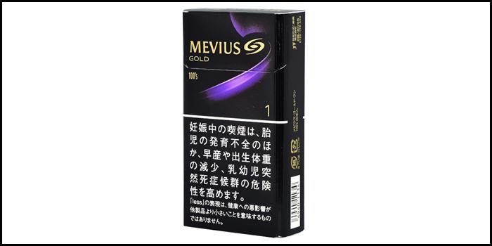 長いロングサイズタバコ銘柄:メビウスゴールドワン100's