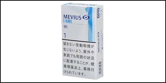 長いロングサイズタバコ銘柄:メビウスイーシリーズワン100's