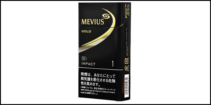 長いロングサイズタバコ銘柄:メビウスゴールドインパクトワン100's