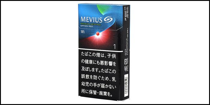 長いロングサイズタバコ銘柄:メビウスプレミアムメンソールオプションレッドワン100's