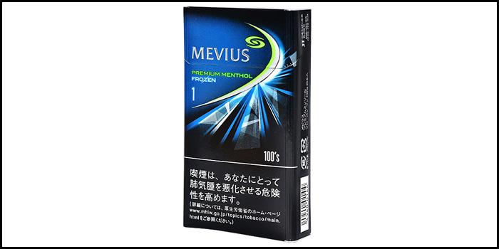 長いロングサイズタバコ銘柄:メビウスプレミアムメンソールフローズンワン100's