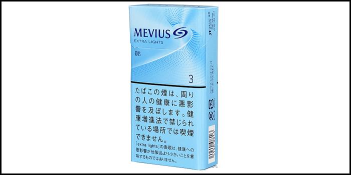 長いロングサイズタバコ銘柄:メビウスエクストラライト100'sボックス