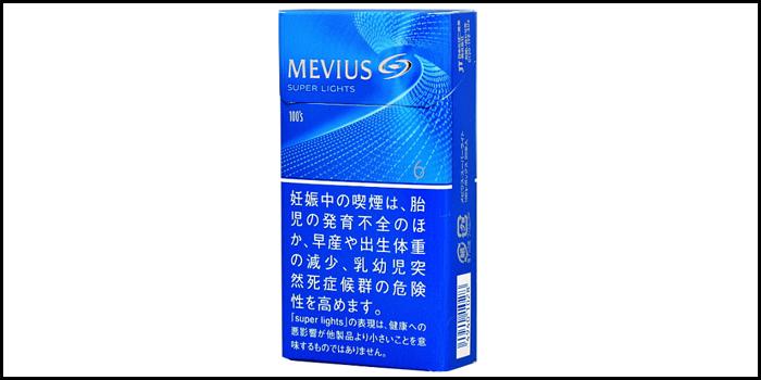 長いロングサイズタバコ銘柄:メビウススーパーライト100'sボックス