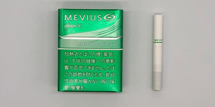 最新型プルームエックスのタバコスティックの値段を解説⑤:メビウス メンソール フレッシュ