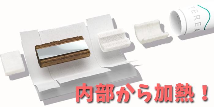 新型アイコス4(IQOS4)はヒートスティックの中にアルミホイル(金属)が入っている