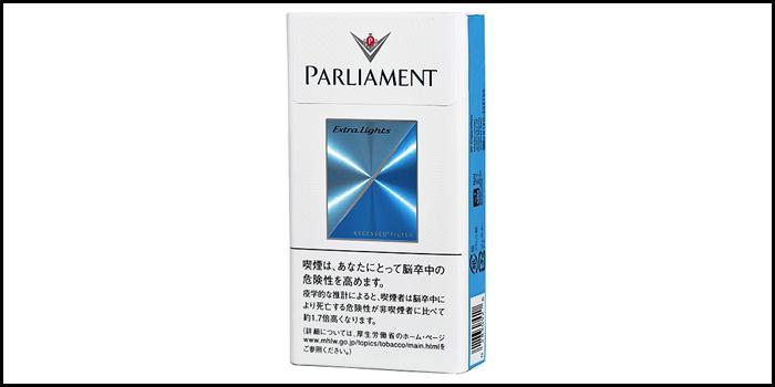 長いロングサイズタバコ銘柄:パーラメントエクストラライト100'sBOX
