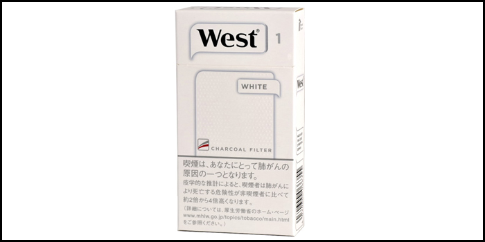 長いロングサイズタバコ銘柄:ウエストホワイト100's