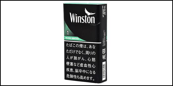 長いロングサイズタバコ銘柄:ウィンストンイナズマメンソールワン100'sボックス