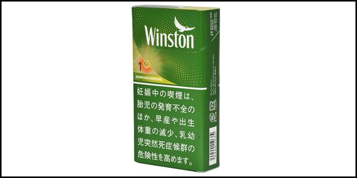 長いロングサイズタバコ銘柄:ウィンストンスパークリングメンソールワン100'sボックス