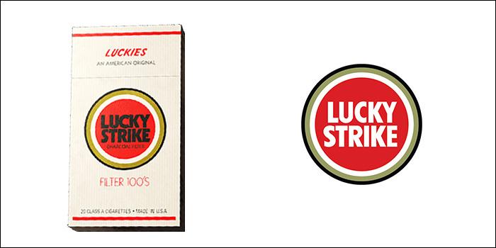 ラッキーストライクの廃盤銘柄 ラッキーストライク・100・ボックス